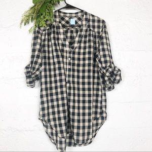 Barneys New York Plaid Button Shirt